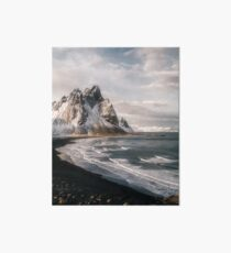 Stokksnes Icelandic Mountain Beach Sunset - Landscape Photography Art Board