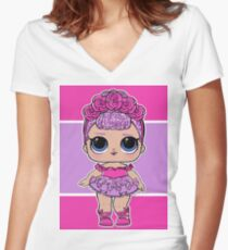 L.O.L Surprise - Sugar Queen Women's Fitted V-Neck T-Shirt