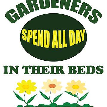 Divertido diseño de jardinería: los jardineros pasan todo el día en sus camas de kudostees