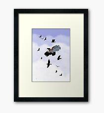 Cyborg Bird - how to fly Framed Print
