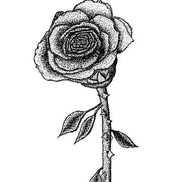 Pluma punteada y tinta rosa de carlac