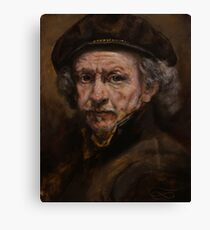 Rembrandt portrait study Canvas Print