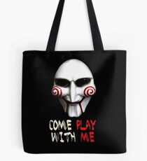 Jigsaw Mask - Come Play with Me Tote Bag