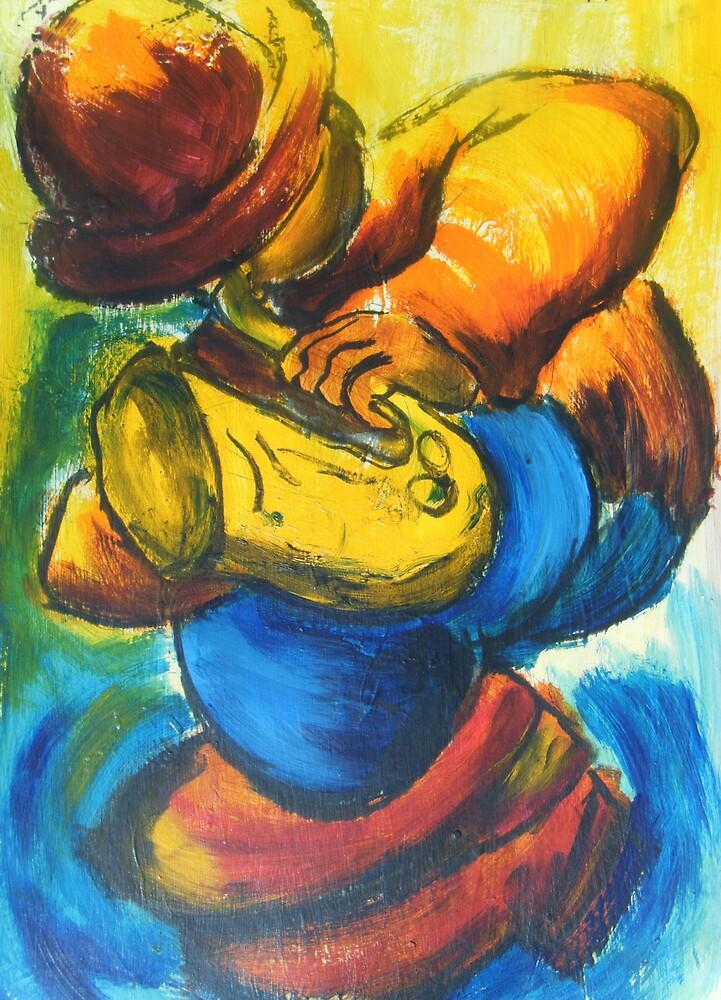 musician 1 : sax player by Gary Marshall