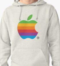Rainbow Vintage Apple Logo Pullover Hoodie
