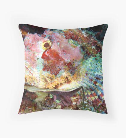 Smallscale Scorpionfish Throw Pillow