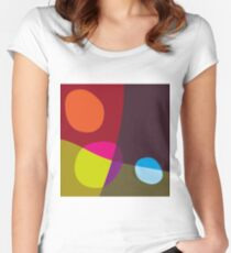 Abstract 'Tumbling Down No1' Women's Fitted Scoop T-Shirt