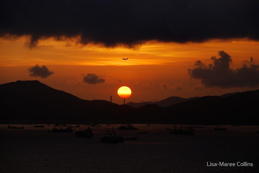 Hong Kong at sunset by Lisa-Maree Collins