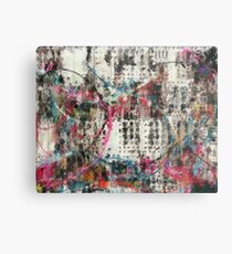Analog Synthesizer, Abstract painting / illustration Metal Print