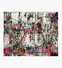 Analog Synthesizer, Abstract painting / illustration Photographic Print