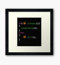 Coffee code - programming Framed Print