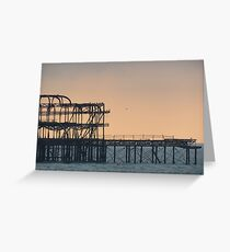 West Pier, Brighton. Greeting Card
