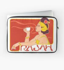 Cafe Rajah Poster for Coffee Lovers Laptop Sleeve