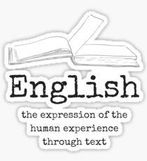 English Education Content Area Purpose Sticker