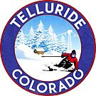 TELLURIDE COLORADO Ski Skiing Mountain Mountains Skiing Skis Snowboard Snowboarding by MyHandmadeSigns