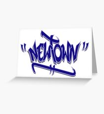 Newtown Graffiti Blue Greeting Card