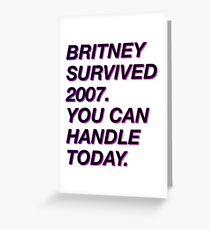 Tarjeta de felicitación Britney survived 2007