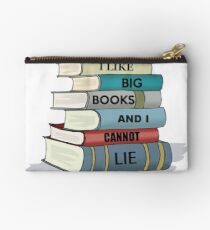 I LIKE BIG BOOKS AND I CANNOT LIE - Gifts for Book Lovers and Readers Studio Pouch