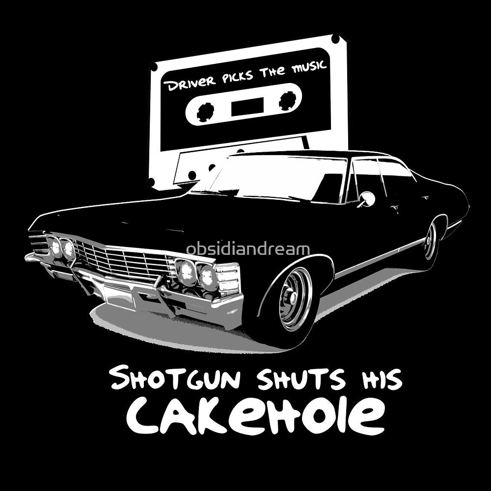 Supernatural - Shotgun Shuts His Cakehole by obsidiandream