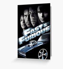 Fast & Furious Greeting Card