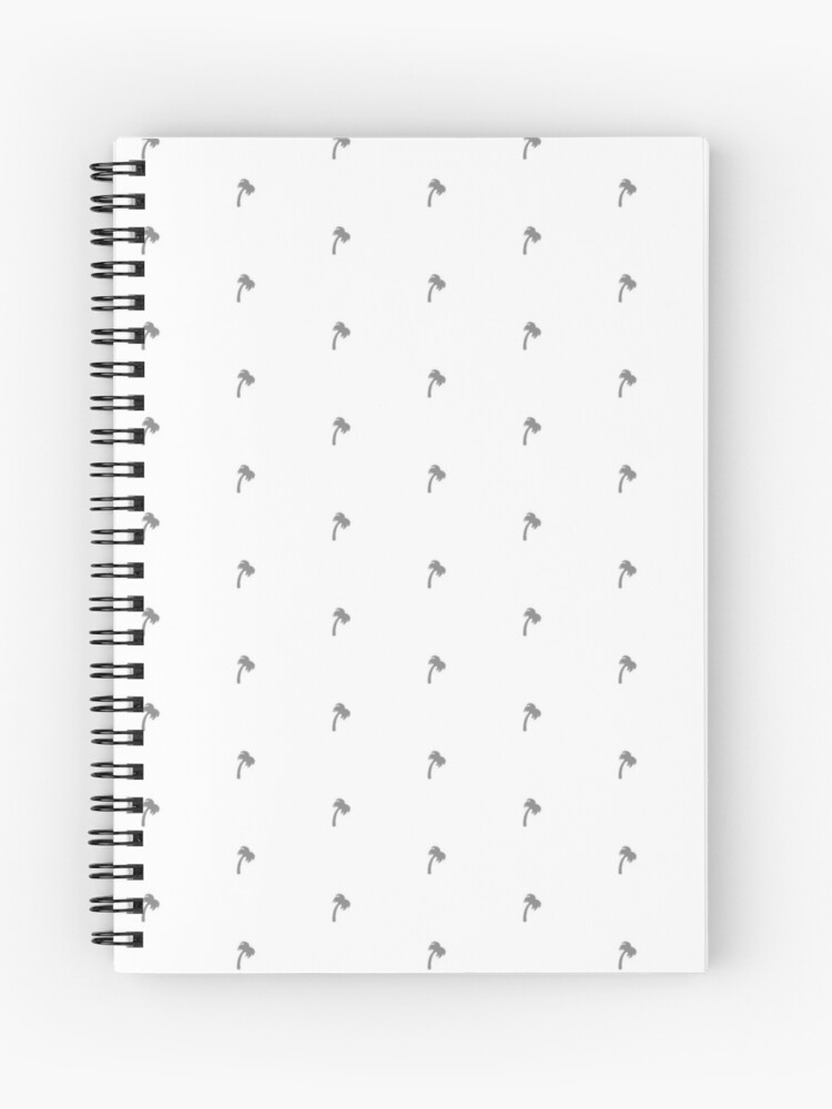 In N Out Style Palm Tree Pattern Apparel   Spiral Notebook