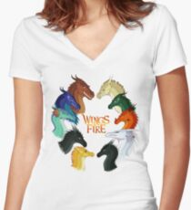 Wings of Fire - All Together Women's Fitted V-Neck T-Shirt