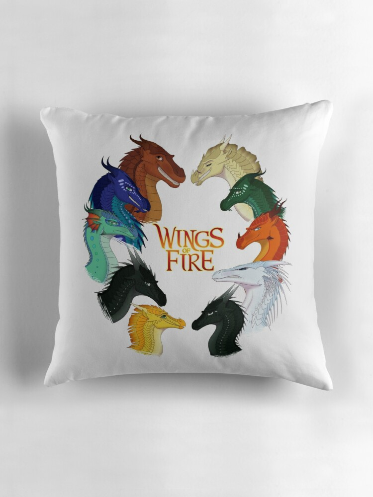 Quot Wings Of Fire All Together Quot Throw Pillows By
