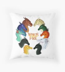 Wings of Fire - All Together Throw Pillow