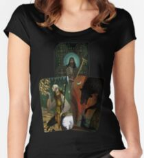 Solas Tarot Card Trilogy Women's Fitted Scoop T-Shirt