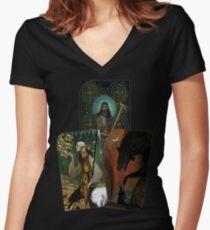 Solas Tarot Card Trilogy Women's Fitted V-Neck T-Shirt