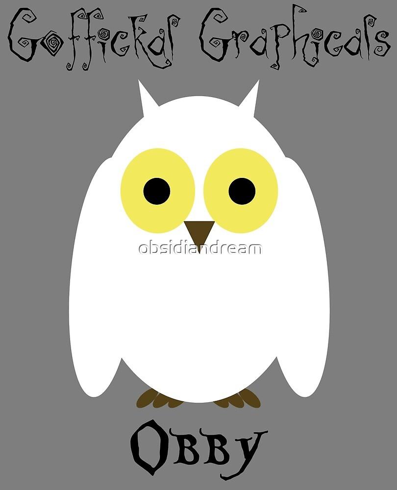 Obby the Owl by obsidiandream
