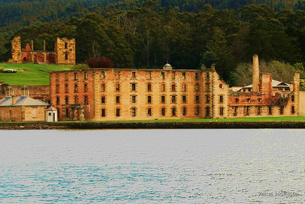 The view from the bay at Port Arthur by Alina Holgate