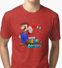Super Mario Odyssey (Mario logo) Tri-blend T-Shirt