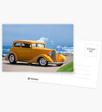 1933 Pontiac Deluxe 8 Touring Sedan IV Postcards