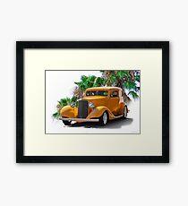 1933 Pontiac Deluxe 8 Touring Sedan Ia Framed Print