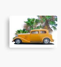 1933 Pontiac Deluxe 8 Touring Sedan 'Profile' II Metal Print