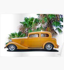1933 Pontiac Deluxe 8 Touring Sedan 'Profile' II Poster