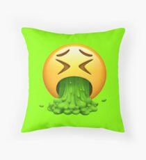 Vomit Emoji Throw Pillow