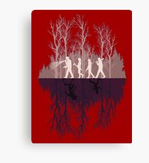 stranger things upside down Canvas Print