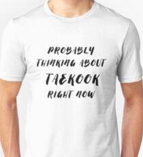 Camiseta ajustada pensando en taekook