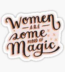 Pegatina Las mujeres son un poco mágicas: la princesa se ahorra en este