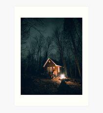 October Nights at the Cabin Art Print