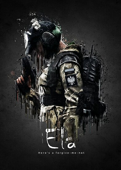 Quot Operator Ela From Rainbow Six Siege Quot Posters By Traxim