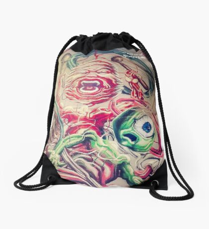 Graff in the city Drawstring Bag