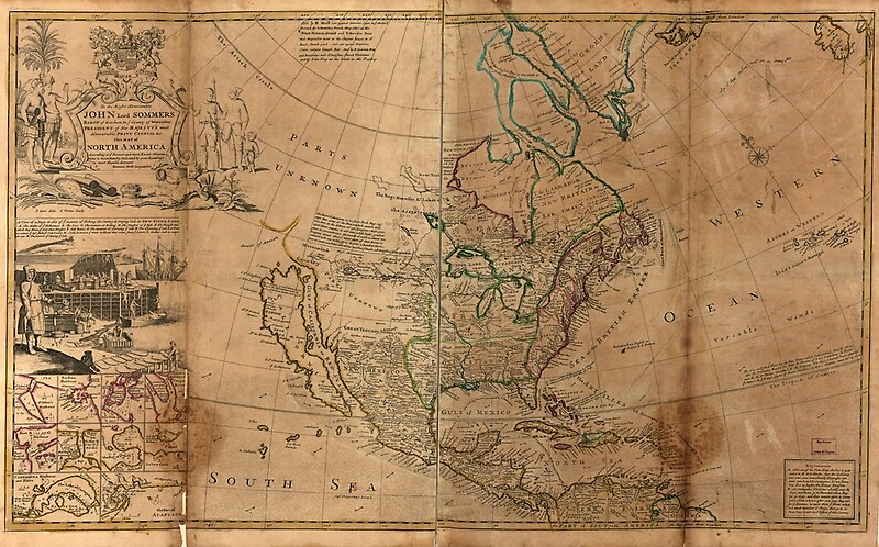 1715 - Map of North America by Herman Moll