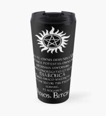 Supernatural Adios Bitch Exorcism Travel Mug