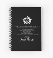 Supernatural Adios Bitch Exorcism Spiral Notebook