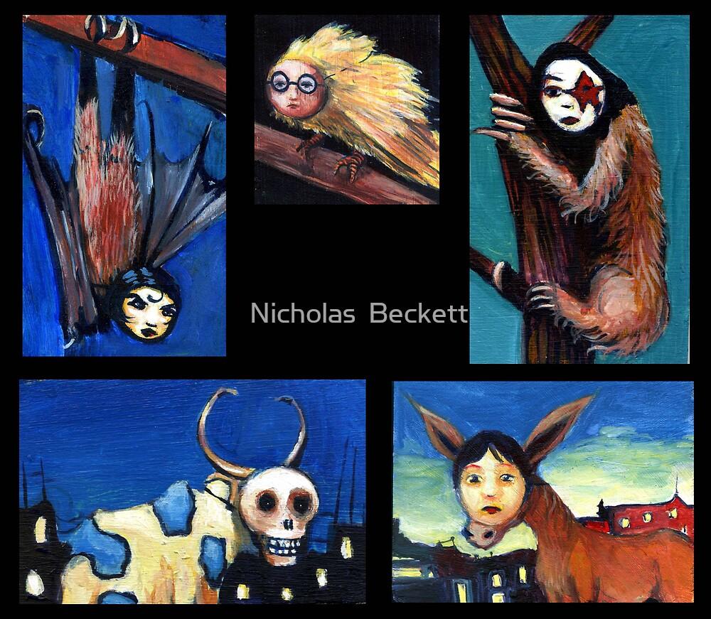 Masked Animals by Nicholas  Beckett