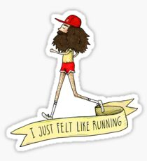Forrest Gump - I just felt like running Sticker