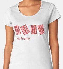 Red Frame/White Light Women's Premium T-Shirt